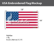 USA Embroidered Flags 10x19 foot (Made in the USA)