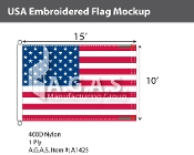USA Embroidered Flags 10x15 foot