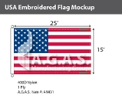 USA Embroidered Flags 15x25 foot