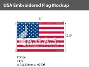 USA Embroidered Flags 2.5x4 foot