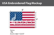 USA Embroidered Flags 4x6 foot