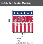 USA Fan Centers Only 3x3 foot with Welcome