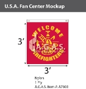 USA Fan Centers Only 3x3 foot with Firefighter