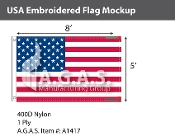 USA Embroidered Flags 5x8 foot