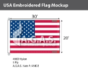 USA Embroidered Flags 20x30 foot