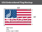 USA Embroidered Flags 30x50 foot