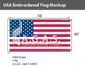 USA Embroidered Flags 40x76 foot