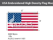 USA Embroidered Flags 3x5 foot (High Density)