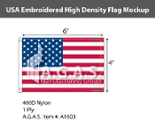 USA Embroidered Flags 4x6 foot (High Density)
