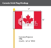 Canada Stick Flags 12x18 inch