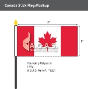 Canada Stick Flags 3x6 inch (Official ratio 1:2)