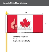 Canada Stick Flags 12x24 inch (Official ratio 1:2)