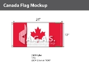 Canada Flags 12x24 inch (Official ratio 1:2)