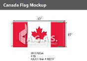 Canada Flags 15x30 inch (Official ratio 1:2)