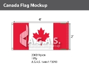 Canada Flags 2x4 foot (Official ratio 1:2)