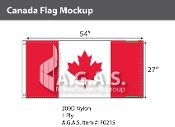 Canada Flags 27x54 inch (Official ratio 1:2)