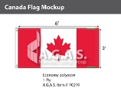 Canada Flags 3x6 foot (Official ratio 1:2)