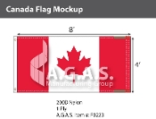 Canada Flags 4x8 foot (Official ratio 1:2)