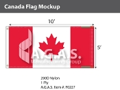 Canada Flags 5x10 foot (Official ratio 1:2)