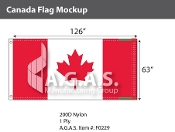 Canada Flags 63x126 inch (Official ratio 1:2)