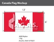 Canada Flags 6x12 foot (Official ratio 1:2)