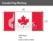 Canada Flags 7.5x15 foot (Official ratio 1:2)