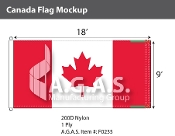 Canada Flags 9x18 foot (Official ratio 1:2)