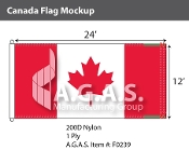 Canada Flags 12x24 foot (Official ratio 1:2)
