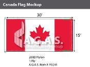Canada Flags 15x30 foot (Official ratio 1:2)