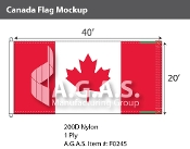 Canada Flags 20x40 foot (Official ratio 1:2)