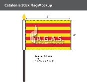 Catalonia Stick Flags 4x6 inch