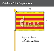 Catalonia Stick Flags 12x18 inch