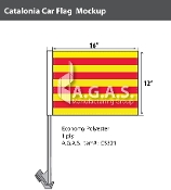 Catalonia Car Flags 12x16 inch Economy