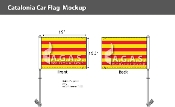 Catalonia Car Flags 10.5x15 inch Premium