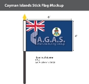 Cayman Islands Stick Flags 4x6 inch