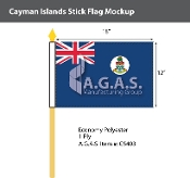 Cayman Islands Stick Flags 12x18 inch
