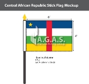 Central African Republic Stick Flags 4x6 inch