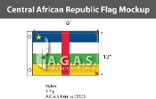 Central African Republic Flags 12x18 inch