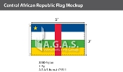 Central African Republic Flags 3x5 foot