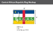 Central African Republic Flags 4x6 foot