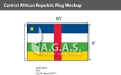 Central African Republic Flags 6x10 foot