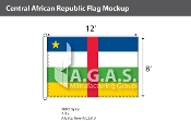 Central African Republic Flags 8x12 foot