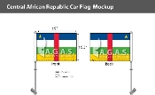 Central African Republic Car Flags 10.5x15 inch Premium