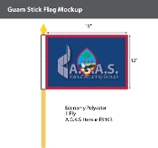 Guam Stick Flags 12x18 inch