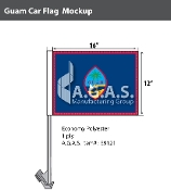 Guam Car Flags 12x16 inch Economy