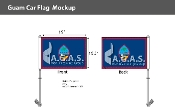 Guam Car Flags 10.5x15 inch Premium