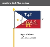 Acadiana Stick Flags 12x18 inch