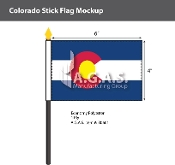 Colorado Stick Flags 4x6 inch