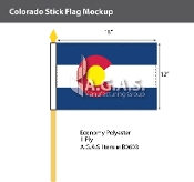 Colorado Stick Flags 12x18 inch