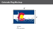 Colorado Flags 4x6 foot